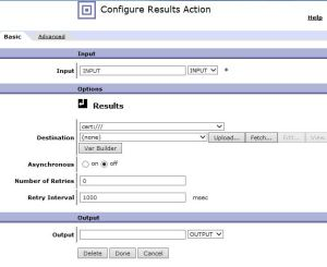DP_Configure Results Action